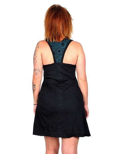 Vestido hippie de algodón abierto en espalda .Estampado lateral Comprar - Venta Mayorista y detalle