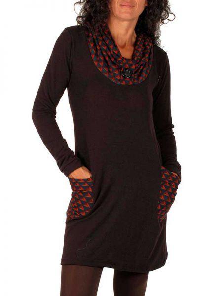 Vestidos Otoño-Invierno - Vestido Boho detalles étnicos VEIV01 para comprar al por Mayor o Detalle en la categoría de