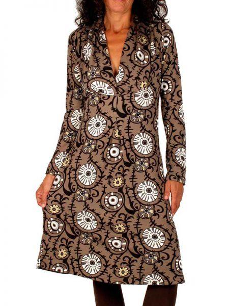 Vestidos Otoño-Invierno - Vestido boho cuello pico VEIV03 para comprar al por Mayor o Detalle en la categoría de