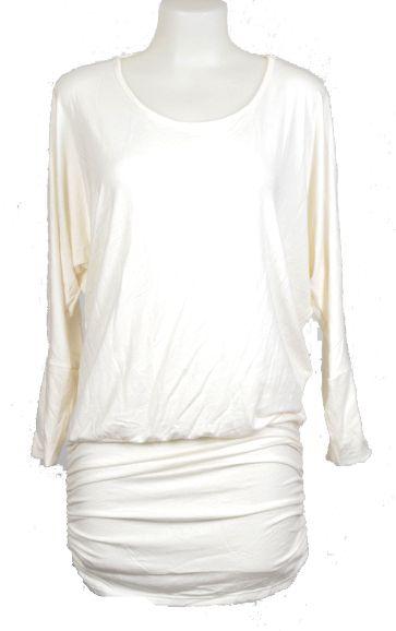 Vestido expandex manga larga con espalda abierta y fruncido en cadera, Comprar - Venta Mayorista y detalle