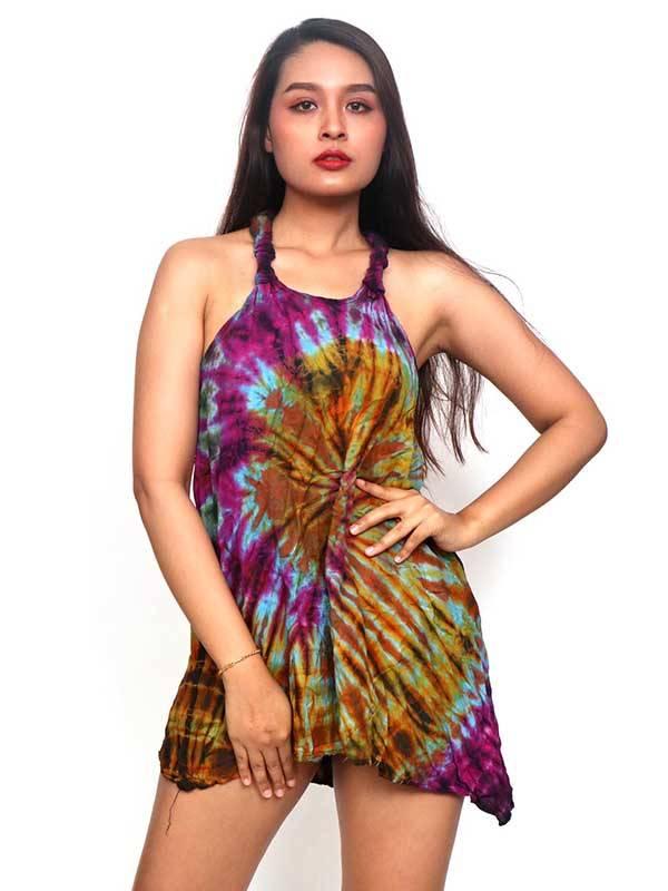 Vestidos Hippie Etnicos - Vestido hippie Tie Dye tirantes VEJU01 para comprar al por Mayor o Detalle en la categoría de Ropa Hippie Alternativa para Mujer