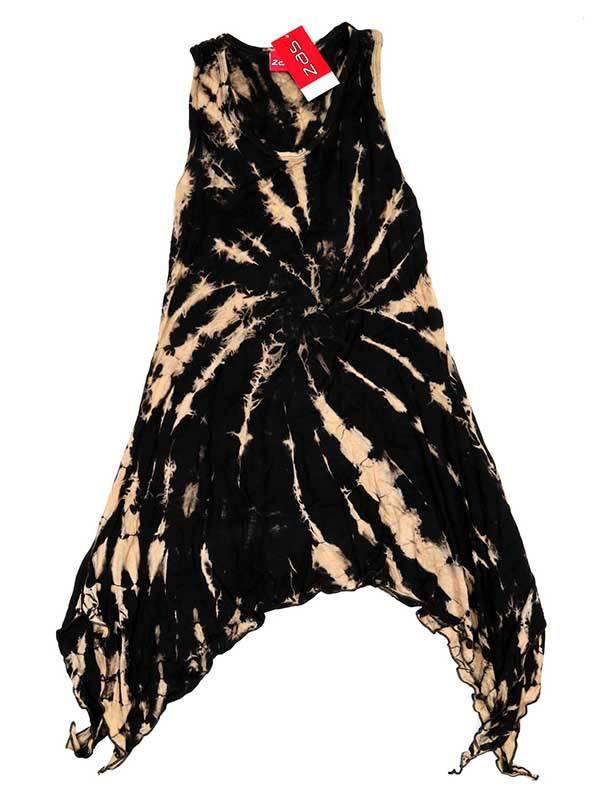 Vestido hippie Tie Dye asimétrico - Marrón Comprar al mayor o detalle
