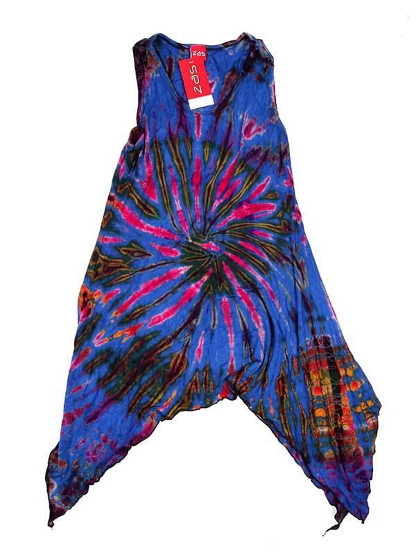 Vestido hippie Tie Dye asimétrico - Morado Comprar al mayor o detalle