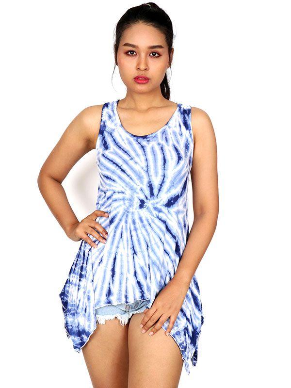 Vestido hippie Tie Dye asimétrico VEJU04 para comprar al por mayor o detalle  en la categoría de Ropa Hippie Alternativa para Chicas.