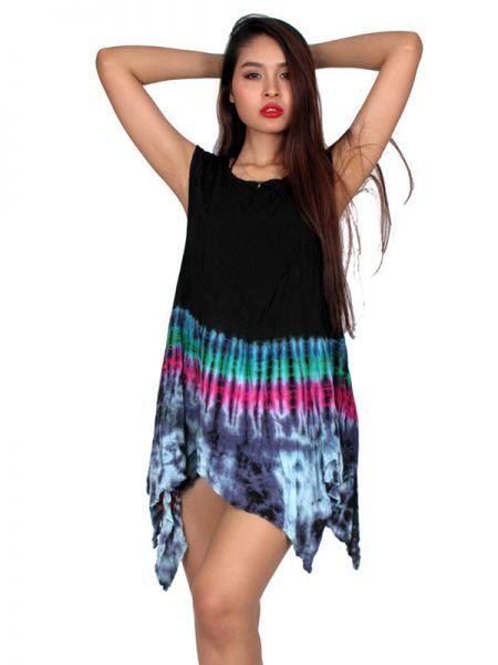 Vestido hippie Tie Dye de calidad (Tinte con nudos) en la falda y Comprar - Venta Mayorista y detalle