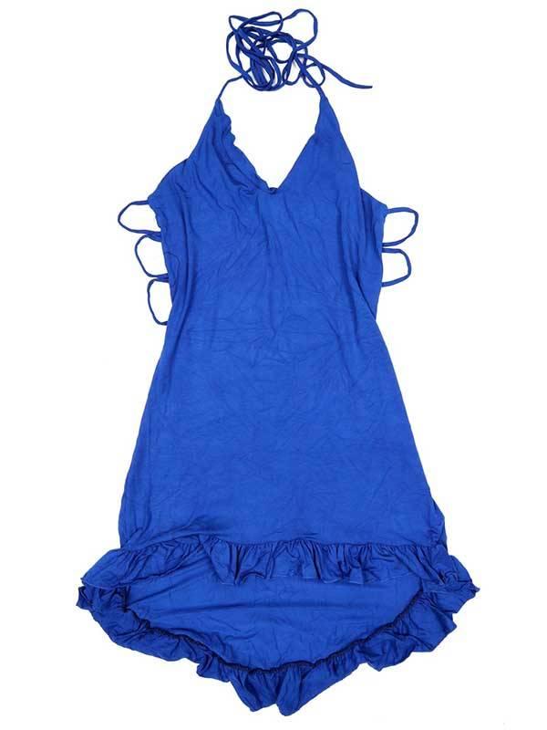 Vestido asimétrico - Azul Comprar al mayor o detalle
