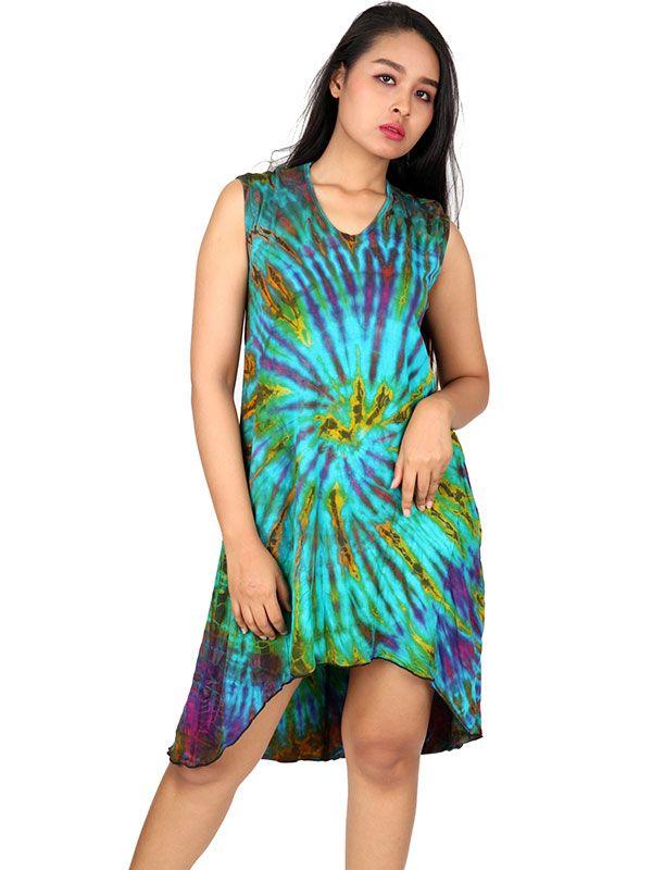 Vestido hippie Tie Dye asimétrico - Detalle Comprar al mayor o detalle