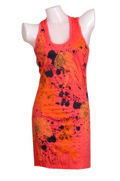 Vestido algodón arrugado de tirantes modelo jelly fish Comprar - Venta Mayorista y detalle