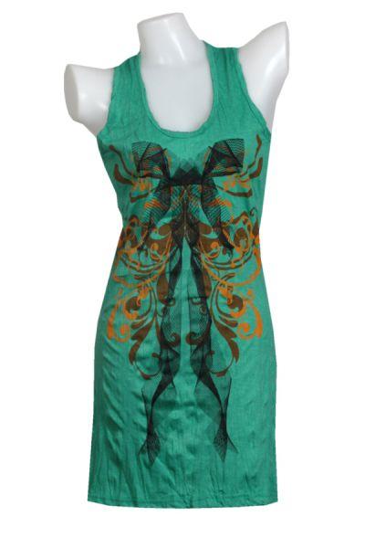 Vestido algodón arrugado modelo bow para Comprar al mayor o detalle