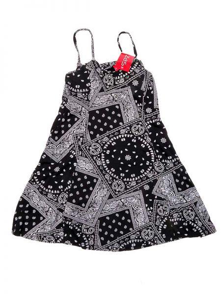 Vestido algodón estampado - Negro Comprar al mayor o detalle