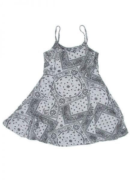 Vestido hippie,100% algodón de tela fina fresca y ligera estampado Comprar - Venta Mayorista y detalle