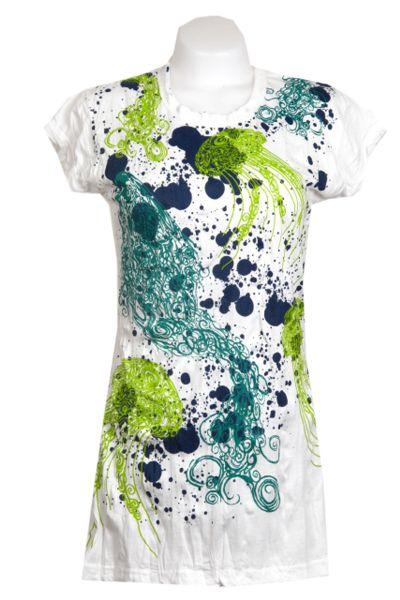 Vestido algodón arrugado de manga corta modelo jelly fish Comprar - Venta Mayorista y detalle
