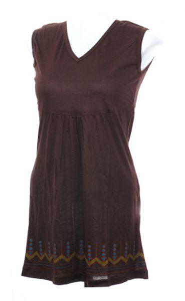 Vestido liso de viscosa con detalles bordados Comprar - Venta Mayorista y detalle