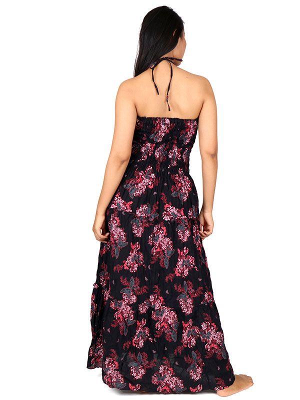 Vestido largo con estampado de flores - Detalle Comprar al mayor o detalle