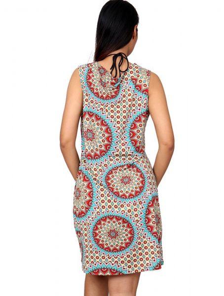 Vestido hippie con estampado mandalas bajo rectoy tirante ancho . Comprar - Venta Mayorista y detalle