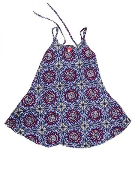 Vestido hippie estampado mandalas - Morado 2 Comprar al mayor o detalle