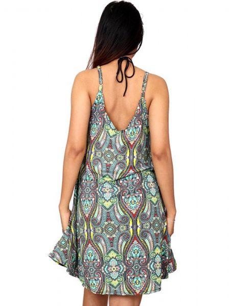Vestido hippie estampado paramecios - Detalle Comprar al mayor o detalle