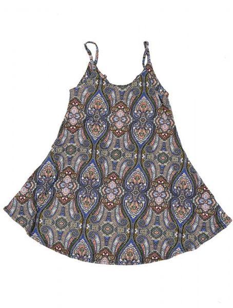 Vestido hippie estampado paramecios VESN11 para comprar al por mayor o detalle  en la categoría de Outlet Hippie Étnico Alternativo.