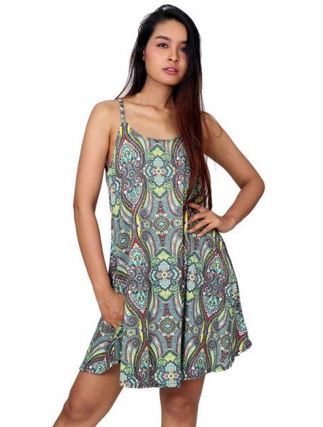 Vestido hippie estampado paramecios Comprar - Venta Mayorista y detalle