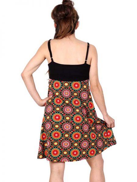 Vestido hippie suelto estampado bajo recto con pecho liso . comp: Comprar - Venta Mayorista y detalle