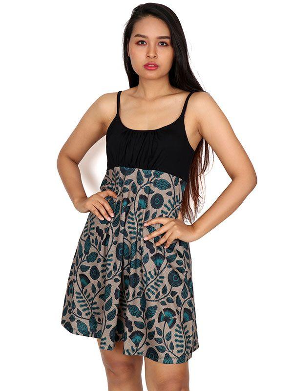 Vestido hippie estampado flores VESN22 para comprar al por mayor o detalle  en la categoría de Ropa Hippie Alternativa para Chicas.