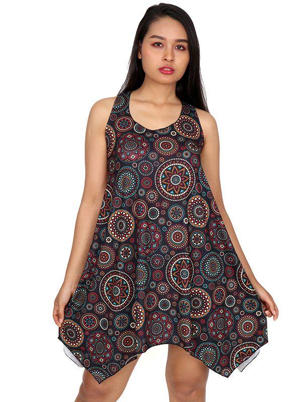 Vestidos Hippie Etnicos - Vestido hippie estampado mandalas VESN24 para comprar al por Mayor o Detalle en la categoría de Ropa Hippie Alternativa para Mujer