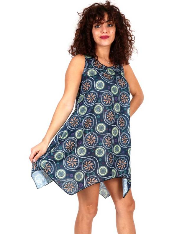 Vestidos hippie étnicos - mandala de vestido hippie estampada VESN25 para comprar por atacado ou detalhes na categoria de roupas hippie alternativas para mulheres