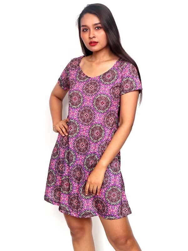 Vestidos Hippie Etnicos - Vestido Hippie con estampado de mandalas VESN28 para comprar al por Mayor o Detalle en la categoría de Ropa Hippie Alternativa para Mujer