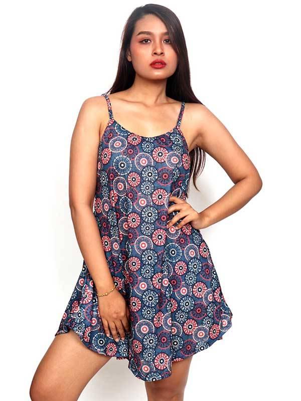 Vestidos Hippies y Etnicos - Vestido hippie estampado mandalas VESN31 para comprar al por Mayor o Detalle en la categoría de Ropa Hippie para Mujer