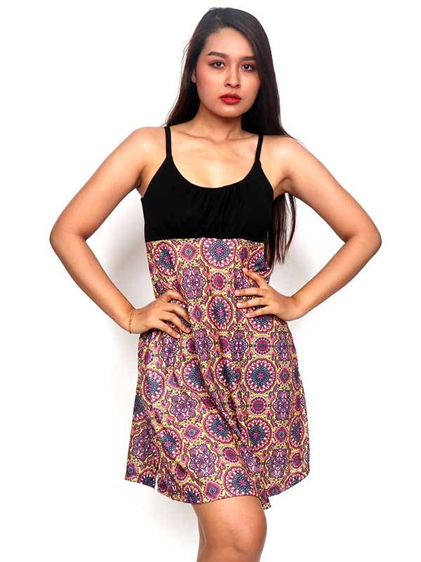 Vestidos Hippie Etnicos - Vestido Hippie con estampado de mandalas VESN34 para comprar al por Mayor o Detalle en la categoría de Ropa Hippie Alternativa para Mujer