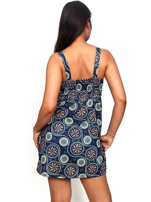 Vestido de tirantes con estampado de mandalas - Detalle Comprar al mayor o detalle