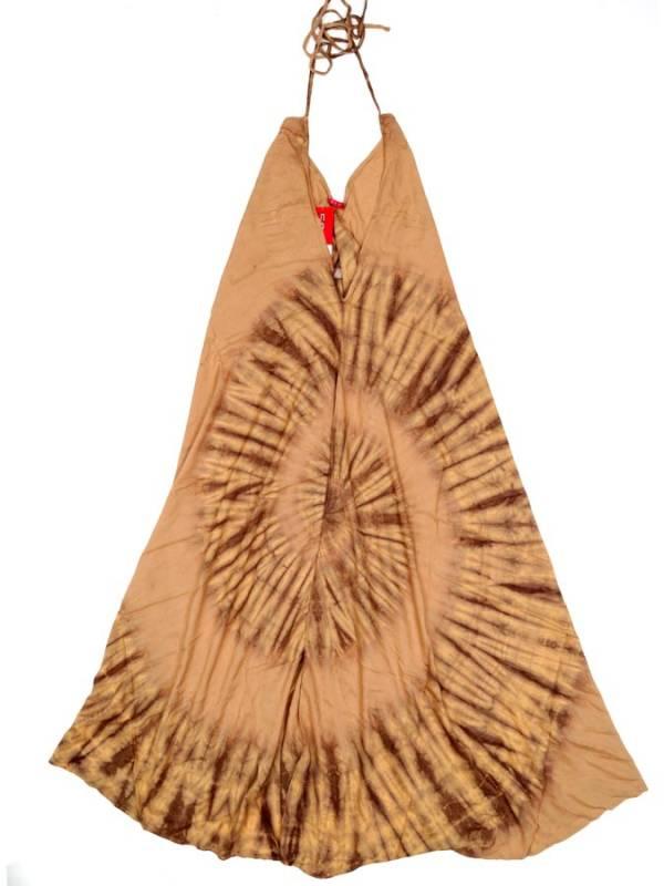 Vestido Largo Tie dye espiral - MarrÓn Comprar al mayor o detalle