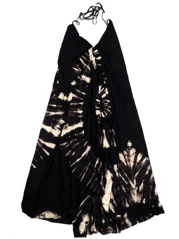 Vestido Largo Tie dye espiral - Negro Comprar al mayor o detalle