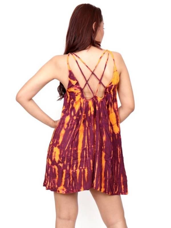 Vestido Hippie corto Tie Dye - Detalle Comprar al mayor o detalle