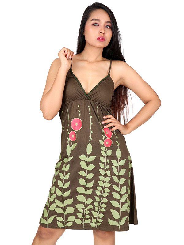 Vestido algodón estampado flores - Detalle Comprar al mayor o detalle