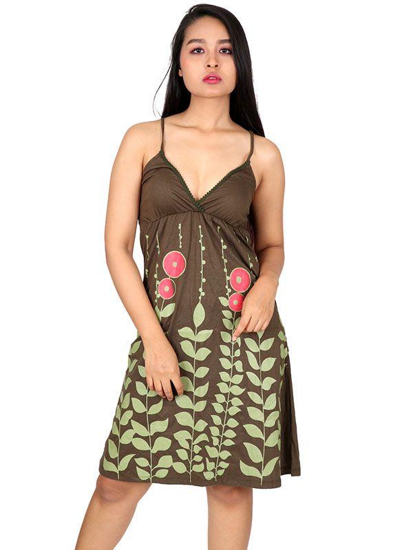 Vestidos Hippie Ethnic Boho - Vestido algodón estampado flores VEUN01 para comprar al por Mayor o Detalle en la categoría de Ropa Hippie Alternativa Chicas