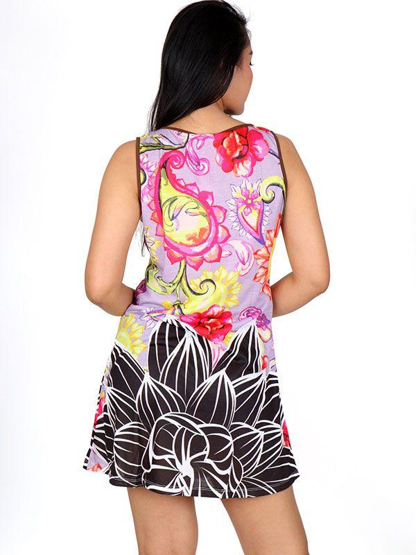Vestido estampado flores - Detalle Comprar al mayor o detalle