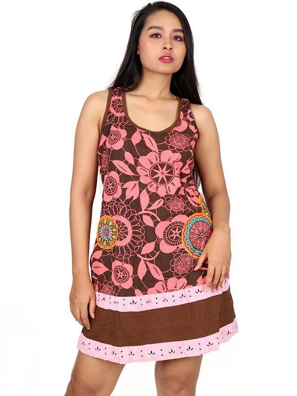 Vestidos Hippie Etnicos - Vestido estampados étnico VEUN102.