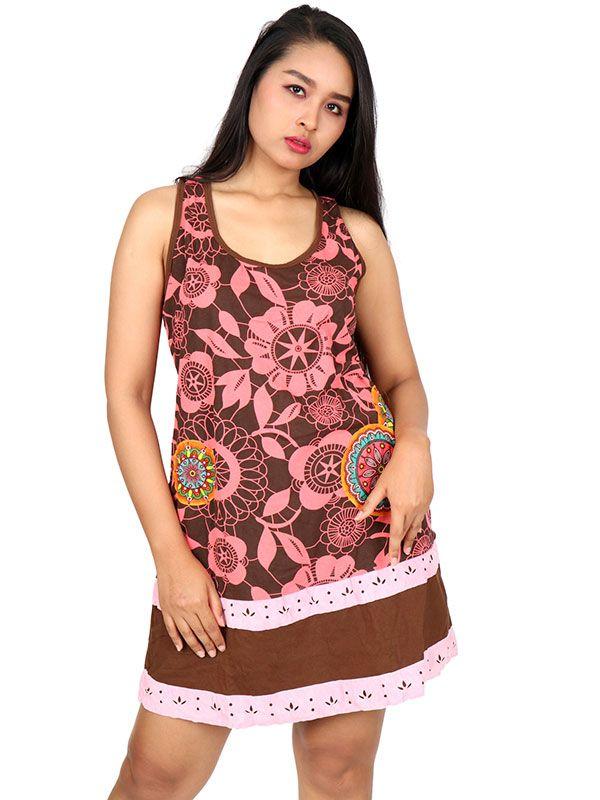 Vestidos Hippies Alternativos - Vestido hippie étnico estampado [VEUN102] para comprar al por mayor o detalle  en la categoría de Ropa Hippie Étnica para Chicas.