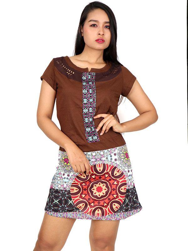 Vestidos Hippies Alternativos - Vestido hippie étnico con parches [VEUN103] para comprar al por mayor o detalle  en la categoría de Ropa Hippie Étnica para Chicas.