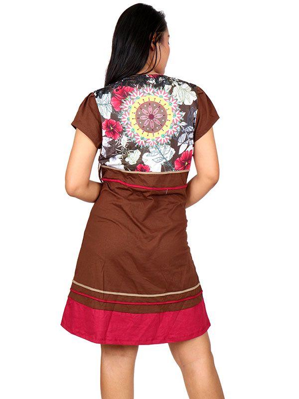 Vestido hippie étnico con parches - Detalle Comprar al mayor o detalle