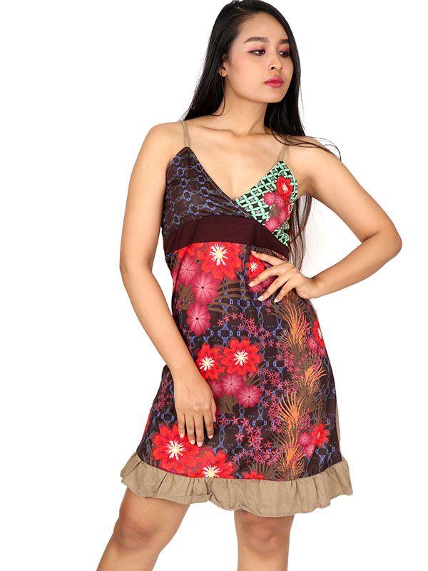 Vestido hippie étnico con parches VEUN106 para comprar al por mayor o detalle  en la categoría de Ropa Hippie Alternativa para Chicas.