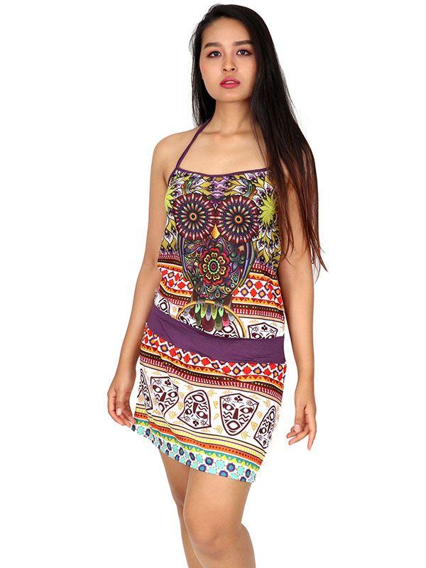 Vestido Buho étnico estampado [VEUN107] para Comprar al mayor o detalle
