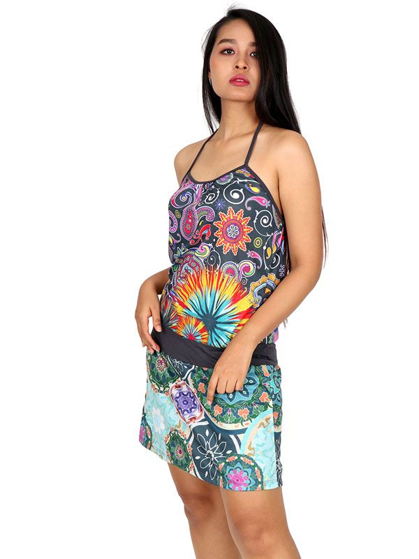 Vestido Buho étnico estampado - Detalle Comprar al mayor o detalle