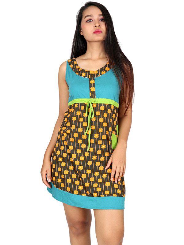 Vestidos Hippie Ethnic Boho - Vestido étnico estampado [VEUN112] para comprar al por mayor o detalle  en la categoría de Ropa Hippie Alternativa Chicas.