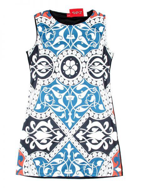 Vestido étnico - Azul Comprar al mayor o detalle