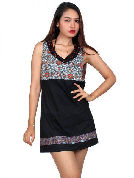Outlet Ropa Hippie - Vestido étnico estampado [VEUN74] para comprar al por mayor o detalle  en la categoría de Outlet Hippie Étnico Alternativo.