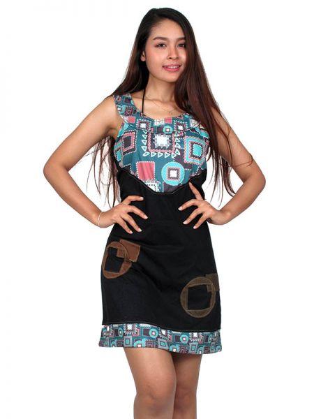 Vestido hippie étnico estampado [VEUN77] para Comprar al mayor o detalle