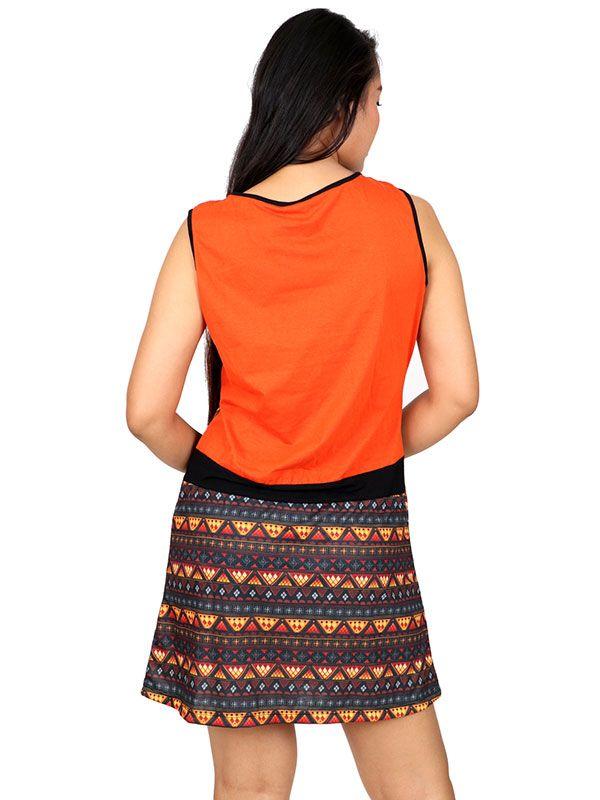 Vestidos Hippie Etnicos - Vestido con frontal estampados VEUN83.