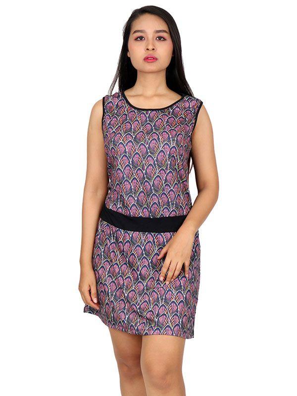 Vestidos Hippie Etnicos - Vestido étnico estampado [VEUN84] para comprar al por mayor o detalle  en la categoría de Ropa Hippie Alternativa para Mujer.